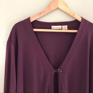 Apostrophe Plum Purple Long Sleeve Cardigan XL